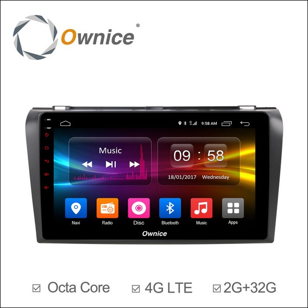 Android Ownice C500+ Mazda 3 9inch 2007/12-OL9503