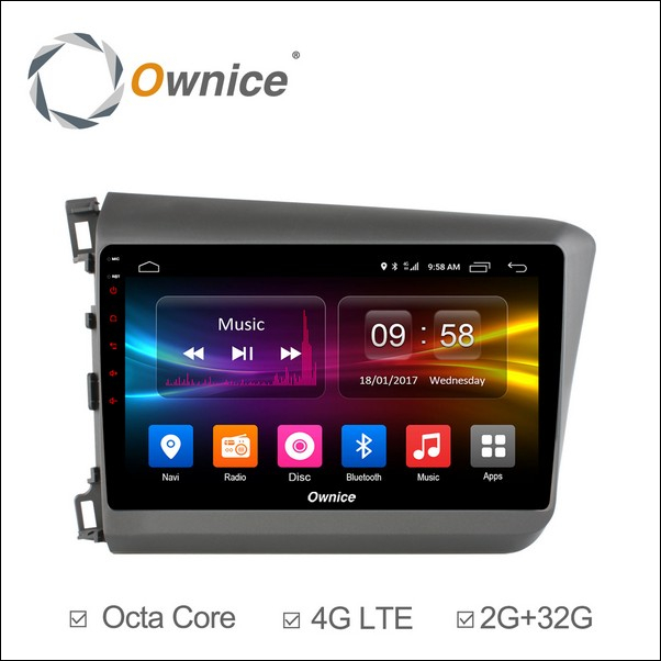 Android Ownice C500+ Civic-2011-2015-OL9645