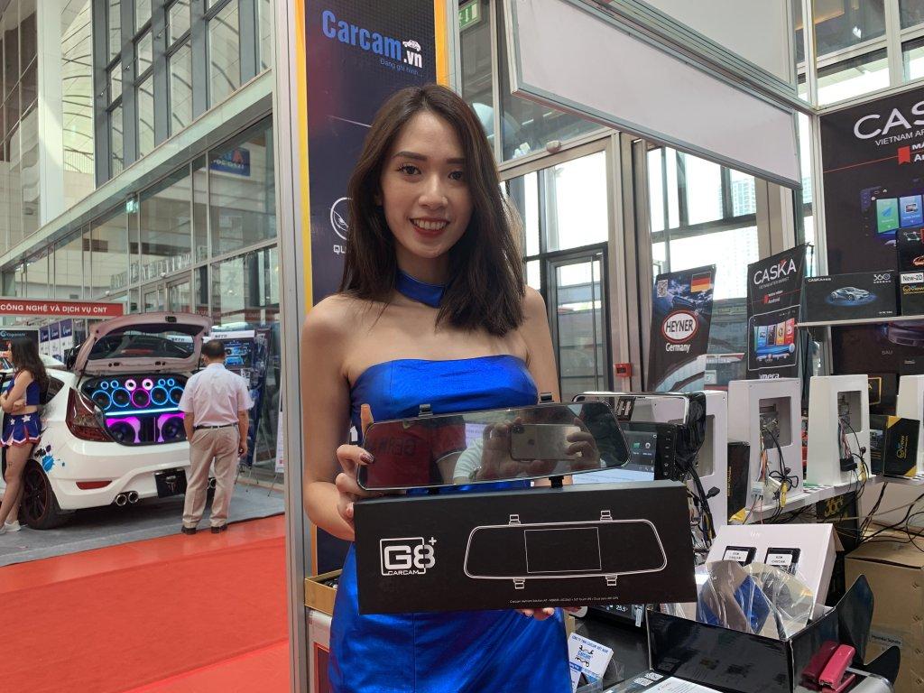 Camera hanh trinh tren Gương G8+ Carcam