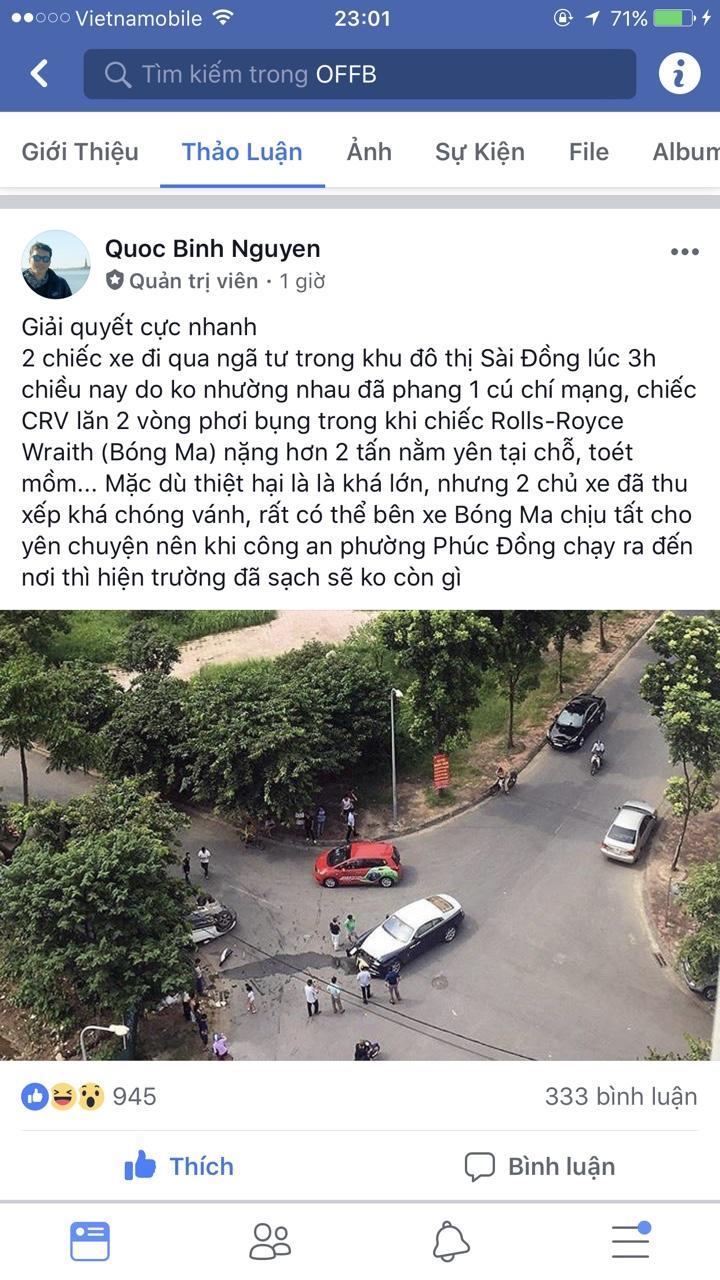 Rolls Royce tai nan Sai Dong