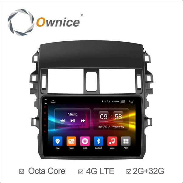 Android Ownice C500+ Corolla 9inch 2009/13-OL9605