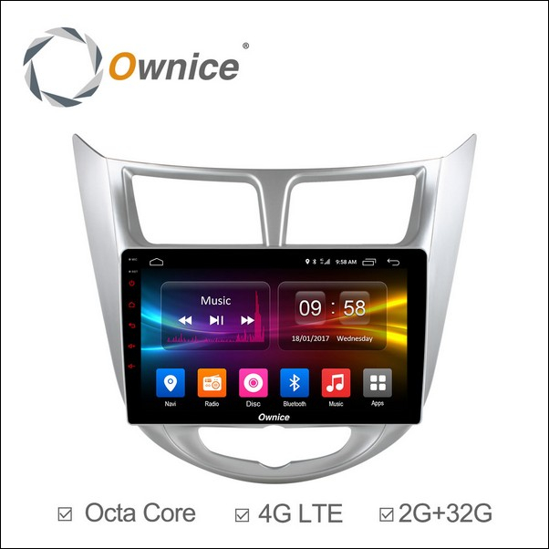 Android Ownice C500+ Verna /Accent/Solaris 9inch 2011/12